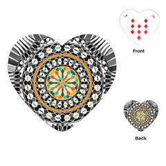 High Contrast Mandala Playing Cards (heart)  by linceazul