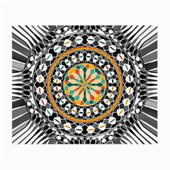 High Contrast Mandala Small Glasses Cloth (2 Side) by linceazul