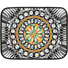 High Contrast Mandala Double Sided Fleece Blanket (mini)  by linceazul