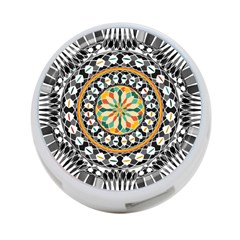 High Contrast Mandala 4 Port Usb Hub (one Side) by linceazul