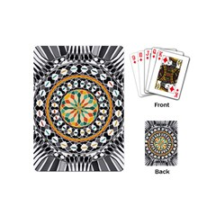 High Contrast Mandala Playing Cards (mini)  by linceazul
