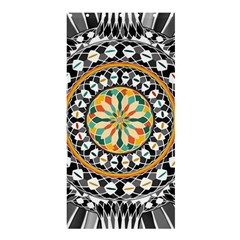 High Contrast Mandala Shower Curtain 36  X 72  (stall)  by linceazul