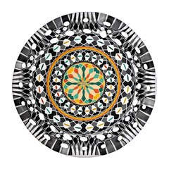 High Contrast Mandala Ornament (round Filigree) by linceazul
