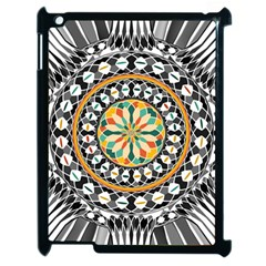 High Contrast Mandala Apple Ipad 2 Case (black) by linceazul