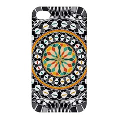 High Contrast Mandala Apple Iphone 4/4s Premium Hardshell Case by linceazul
