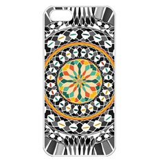 High Contrast Mandala Apple Iphone 5 Seamless Case (white) by linceazul