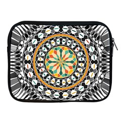 High Contrast Mandala Apple Ipad 2/3/4 Zipper Cases by linceazul