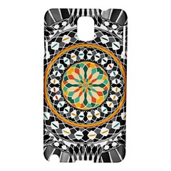 High Contrast Mandala Samsung Galaxy Note 3 N9005 Hardshell Case by linceazul