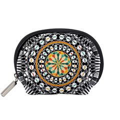 High Contrast Mandala Accessory Pouches (small)  by linceazul
