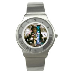 The Wonderful Women Of Earth Stainless Steel Watch by FantasyWorld7