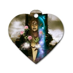 The Wonderful Women Of Earth Dog Tag Heart (two Sides) by FantasyWorld7