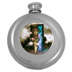 The Wonderful Women Of Earth Round Hip Flask (5 Oz) by FantasyWorld7