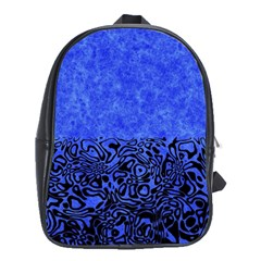 Modern Paperprint Blue School Bag (xl) by MoreColorsinLife