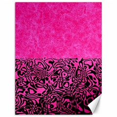 Modern Paperprint Hot Pink Canvas 12  X 16   by MoreColorsinLife