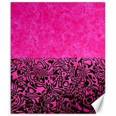 Modern Paperprint Hot Pink Canvas 20  X 24   by MoreColorsinLife