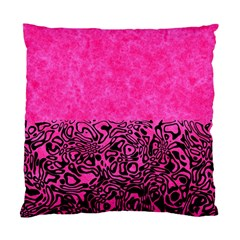 Modern Paperprint Hot Pink Standard Cushion Case (one Side)