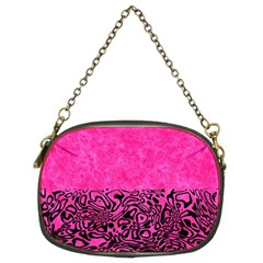 Modern Paperprint Hot Pink Chain Purses (two Sides)  by MoreColorsinLife