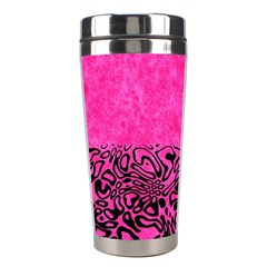 Modern Paperprint Hot Pink Stainless Steel Travel Tumblers by MoreColorsinLife