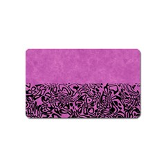 Modern Paperprint Pink Magnet (name Card) by MoreColorsinLife