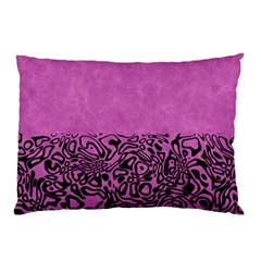 Modern Paperprint Pink Pillow Case by MoreColorsinLife