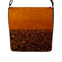 Modern Paperprint Terra Flap Messenger Bag (l)  by MoreColorsinLife