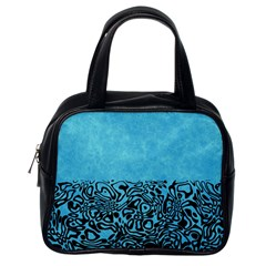 Modern Paperprint Turquoise Classic Handbags (one Side) by MoreColorsinLife