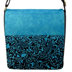 Modern Paperprint Turquoise Flap Messenger Bag (s) by MoreColorsinLife