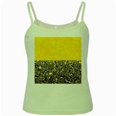 Modern Paperprint Yellow Green Spaghetti Tank by MoreColorsinLife