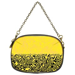 Modern Paperprint Yellow Chain Purses (one Side)  by MoreColorsinLife