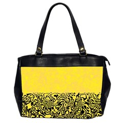 Modern Paperprint Yellow Office Handbags (2 Sides)  by MoreColorsinLife