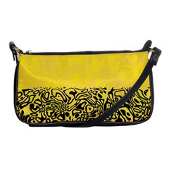 Modern Paperprint Yellow Shoulder Clutch Bags by MoreColorsinLife