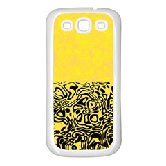 Modern Paperprint Yellow Samsung Galaxy S3 Back Case (white) by MoreColorsinLife