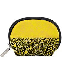 Modern Paperprint Yellow Accessory Pouches (small)  by MoreColorsinLife