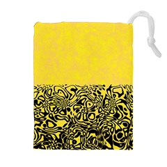 Modern Paperprint Yellow Drawstring Pouches (extra Large) by MoreColorsinLife