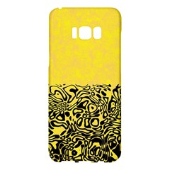 Modern Paperprint Yellow Samsung Galaxy S8 Plus Hardshell Case  by MoreColorsinLife