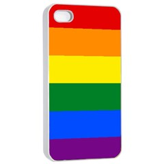 Pride Flag Apple Iphone 4/4s Seamless Case (white)