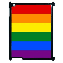 Pride Flag Apple Ipad 2 Case (black) by Valentinaart