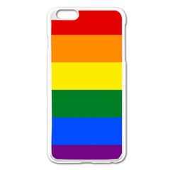 Pride Flag Apple Iphone 6 Plus/6s Plus Enamel White Case by Valentinaart