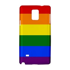 Pride Flag Samsung Galaxy Note 4 Hardshell Case by Valentinaart