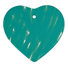Background Green Abstract Ornament (heart) by Nexatart