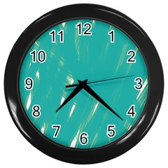 Background Green Abstract Wall Clocks (black) by Nexatart
