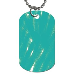 Background Green Abstract Dog Tag (one Side)