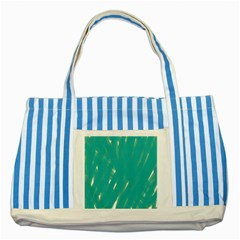Background Green Abstract Striped Blue Tote Bag