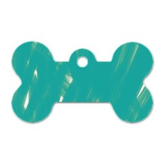 Background Green Abstract Dog Tag Bone (one Side)