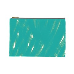 Background Green Abstract Cosmetic Bag (large)