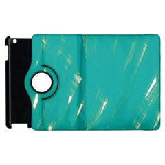 Background Green Abstract Apple Ipad 2 Flip 360 Case