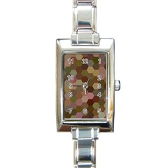 Brown Background Layout Polygon Rectangle Italian Charm Watch by Nexatart