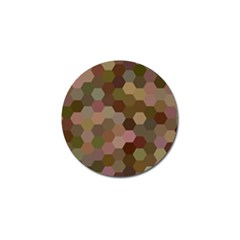 Brown Background Layout Polygon Golf Ball Marker (4 Pack)