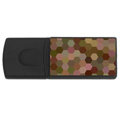 Brown Background Layout Polygon Rectangular Usb Flash Drive