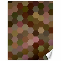 Brown Background Layout Polygon Canvas 12  X 16